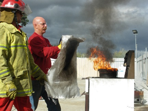 Fire Training Perth Blanket Use Picture