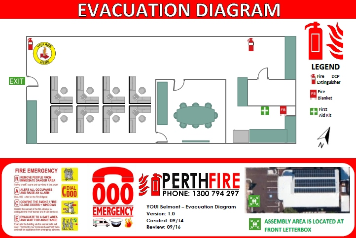 Perth Evacuation Diagram
